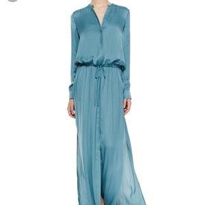 Vince maxi dress size L. Color turquoise
